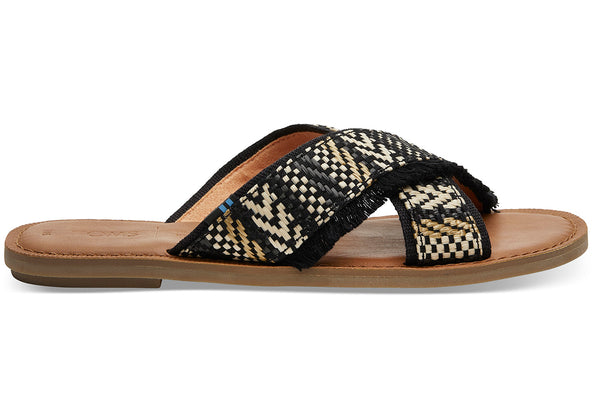 Toms Viv Geometric Woven Black - Lucks of Louth