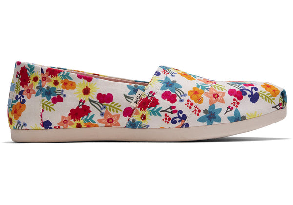 TOMS Classic Alpargata - Natural Floral print - Lucks of Louth