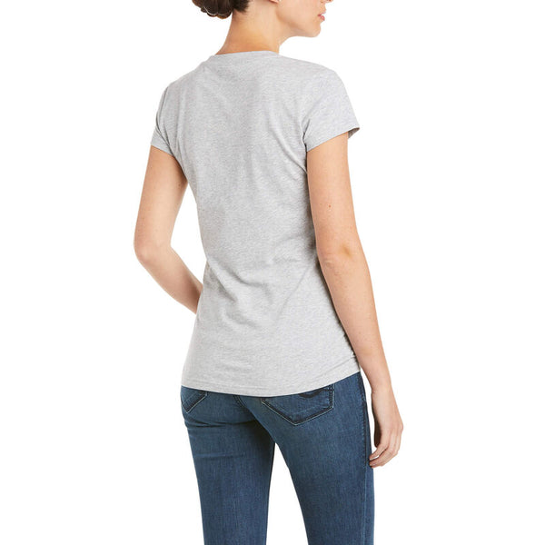 Ariat Icon Logo T-Shirt - Heather Grey - Lucks of Louth