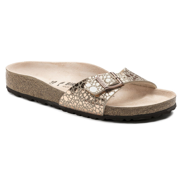 Birkenstock Madrid Metallic Narrow Fit Sandals - Stones Copper - Lucks of Louth