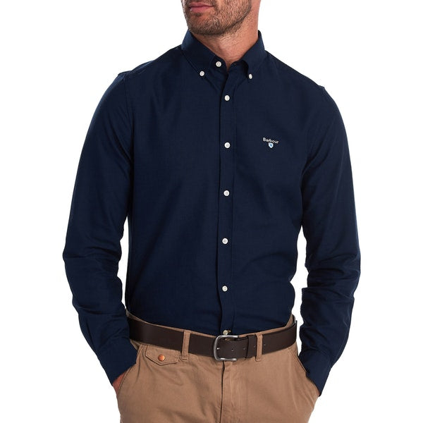 Barbour Oxford 3 Tailored Long Sleeve Shirt - Navy - Lucks of Louth