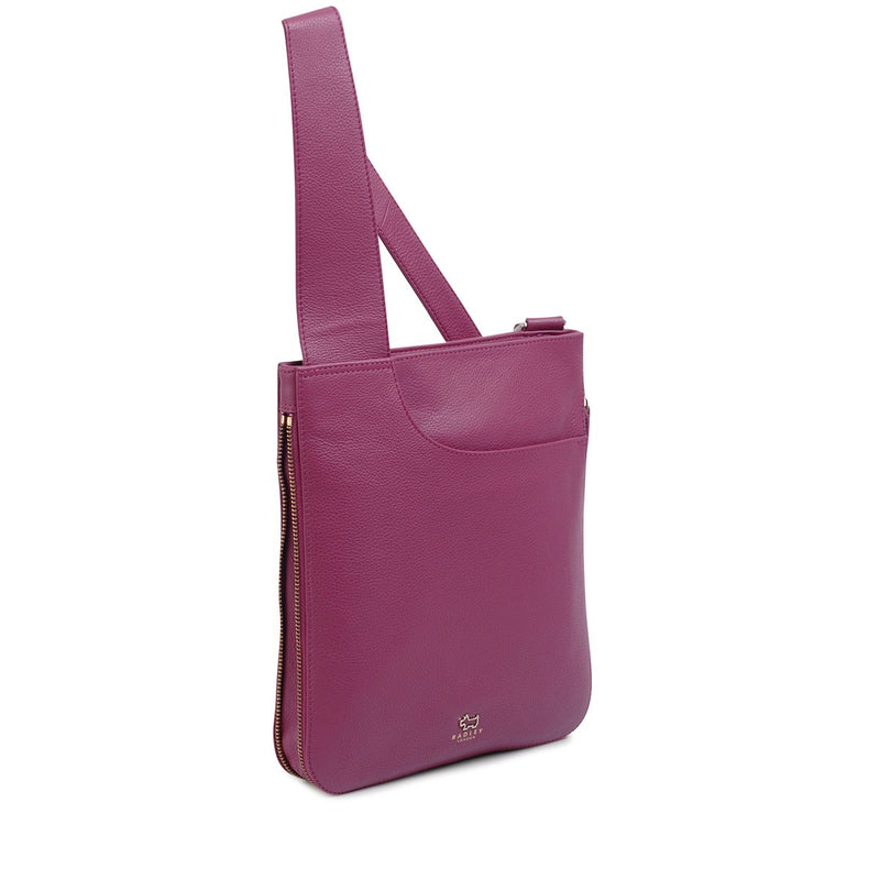 Radley Medium Zip Top Cross Body Pocket Bag - Magenta Pink - Lucks of Louth
