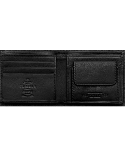 Tumble & Hide Newton Leather Coin Pocket Wallet - Black 2025 17 1 - Lucks of Louth