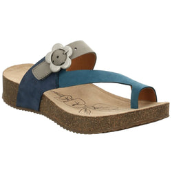 Josef Seibel Tonga 23 Sandal -Blue/Combi - Lucks of Louth