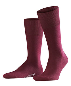 Falke Airport Socks - Barolo (Burgundy) - Lucks of Louth