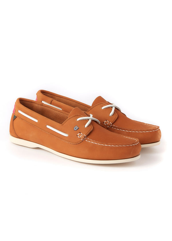 Dubarry Aruba Deck Shoes - Caramel - Lucks of Louth