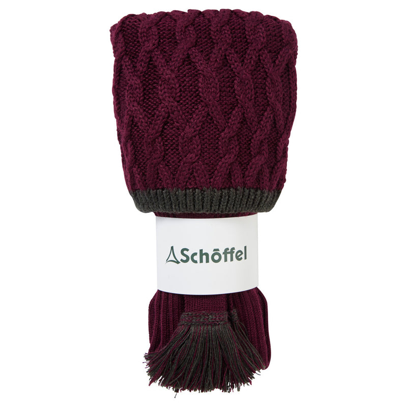 Schoffel Lattice Shooting Sock - Mulberry - Lucks of Louth