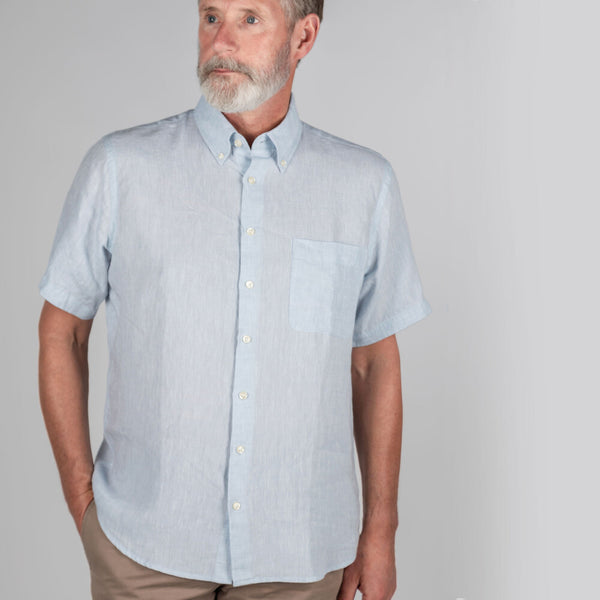 Schoffel Thornham Short Sleeve Classic Shirt - Pale Blue - Lucks of Louth