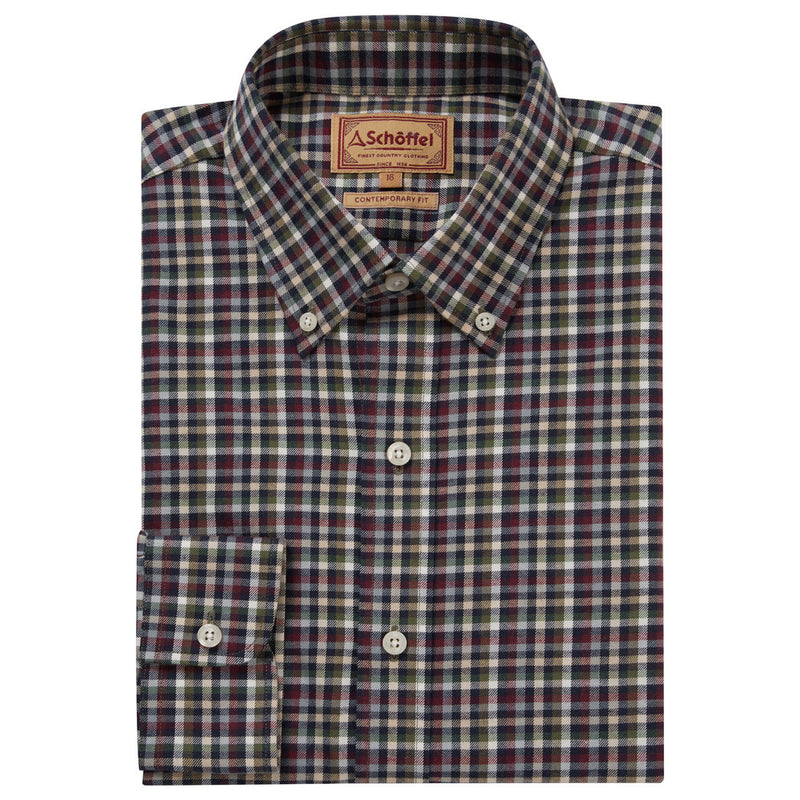 Schoffel Berkshire Shirt - Navy/Beige - Lucks of Louth