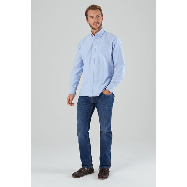 Schoffel Soft Oxford Tailored Shirt - Pale Blue - Lucks of Louth