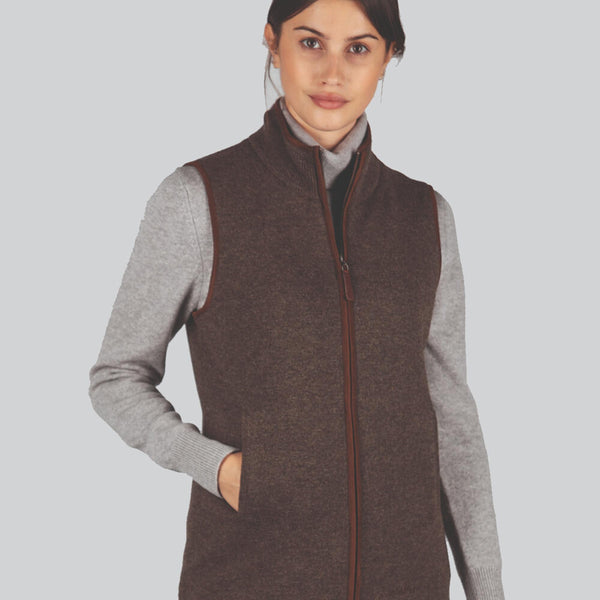 Schoffel Lambswool Aerobloc Gilet - Mole - Lucks of Louth
