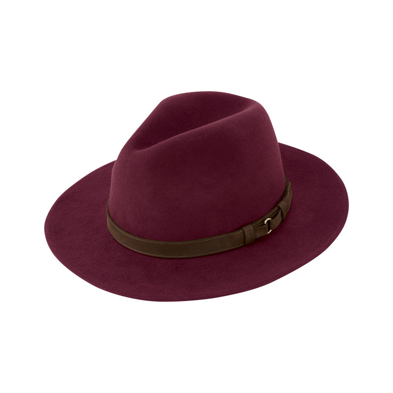 Schoffel Willow Fedora Hat - Fig - Lucks of Louth