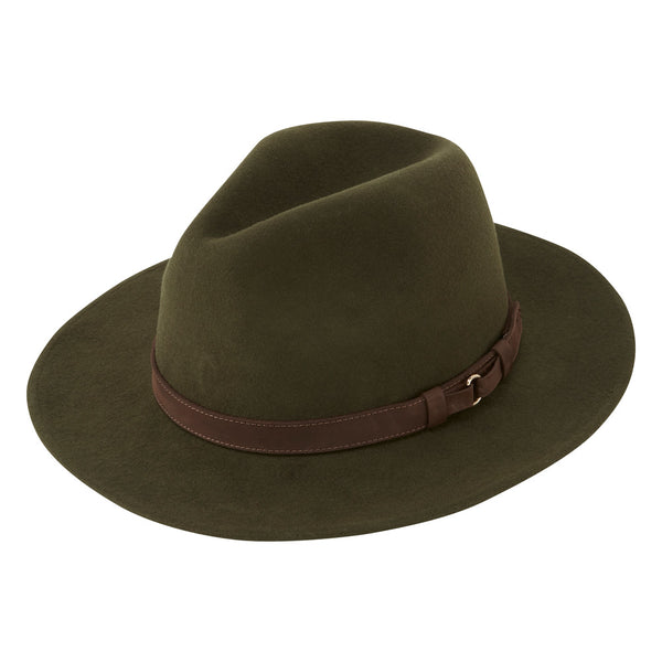 Schoffel Willow Fedora Hat - Forest Green - Lucks of Louth