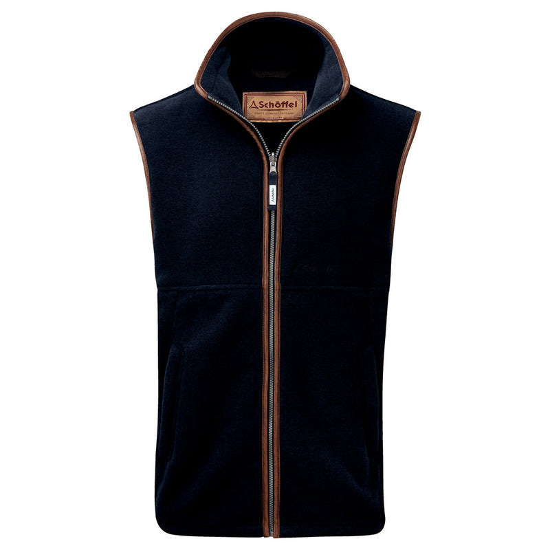 Schoffel Oakham Fleece Gilet - 8880 Navy - Lucks of Louth