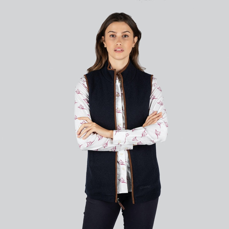 Schoffel Lambswool Aerobloc Gilet - Navy - Lucks of Louth