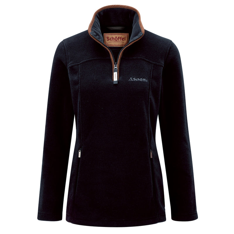 Schoffel Ladies Tilton 1/4 Zip Fleece - Navy - Lucks of Louth