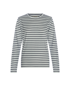 RM Williams Allora Long Sleeve T-Shirt - Blue and White Stripe - Lucks of Louth