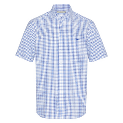 RM Williams Hervey Shirt- Blue Check - Lucks of Louth