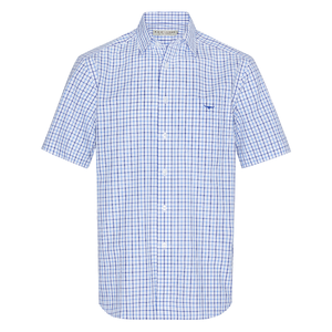 RM Williams ,Hervey Shirt- Blue Check - Lucks of Louth