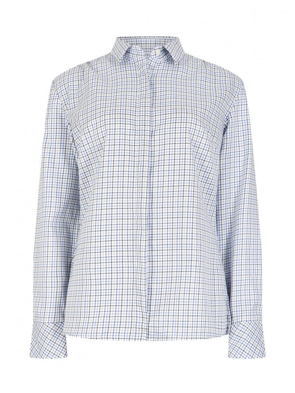 Dubarry Meadow Shirt - Blue Multi - Lucks of Louth