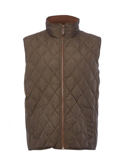 Dubarry Davis Quilted Gilet - Olive - Lucks of Louth