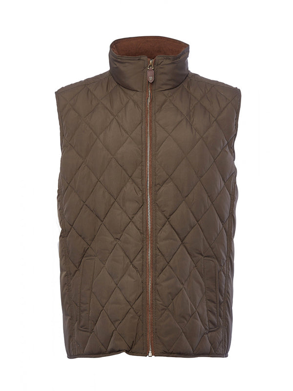 Dubarry Davis Quilted Gilet - Olive