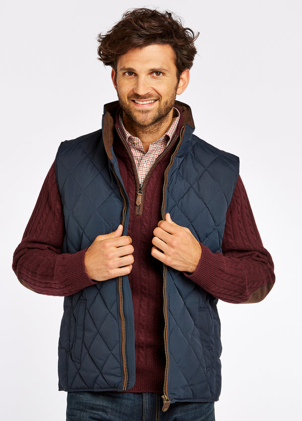 Dubarry Davis Quilted Gilet - Navy - Lucks of Louth