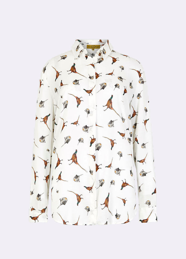 Dubarry Briarrose Shirt - Cream Multi (Pheasants) - Lucks of Louth