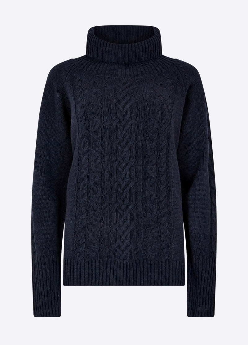 Dubarry Kennedy Knitted Sweater - Navy - Lucks of Louth