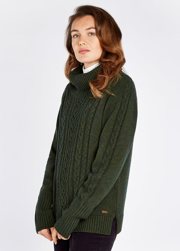 Dubarry Kennedy Knitted Sweater - Olive - Lucks of Louth