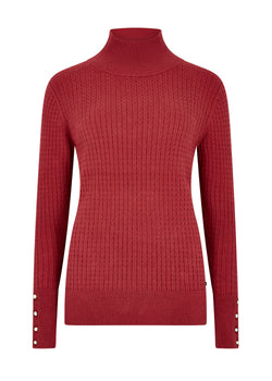 Dubarry Brennan Ladies Knit Sweater - Ruby - Lucks of Louth