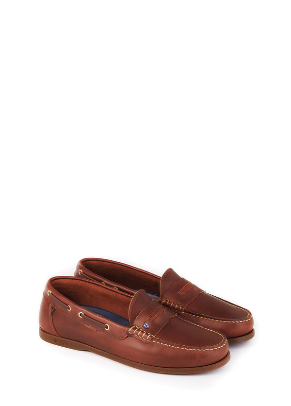 Dubarry Spinnaker Deck Shoes - Brown - Lucks of Louth