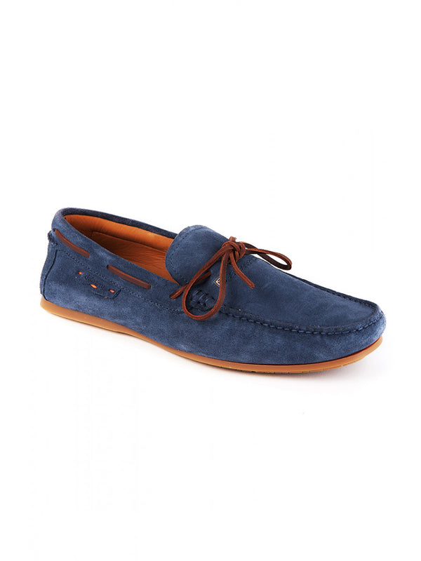 Dubarry Nevis Moccasin Deck Shoe - Denim Blue - Lucks of Louth