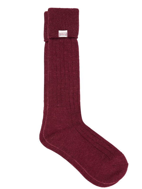 Dubarry Alpaca Wool Shooting Socks - Malbec - Lucks of Louth