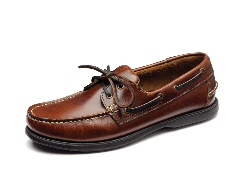 Loake 524CH Deck Shoe - Brown Waxy Leather - Lucks of Louth