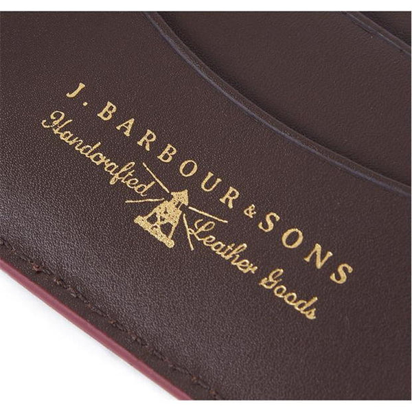 Barbour Grain Leather Bifold Wallet - Dark Brown - Lucks of Louth