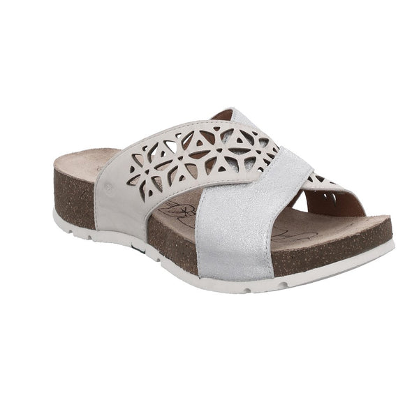Josef Seibel Tilda 06 Sandal -Silber-Kombi (Silver) - Lucks of Louth
