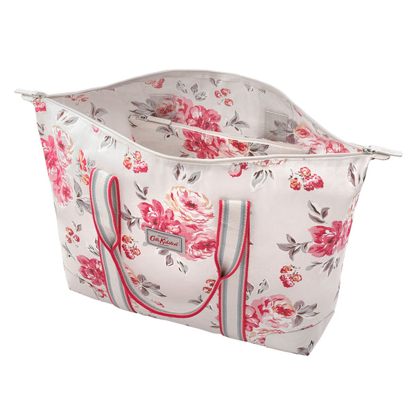 Cath Kidston Brampton Bunch Foldaway Overnight Bag - Stone - Lucks of Louth