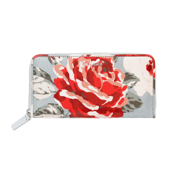 Cath Kidston New Rose Bloom Continental Zip Purse - Lucks of Louth
