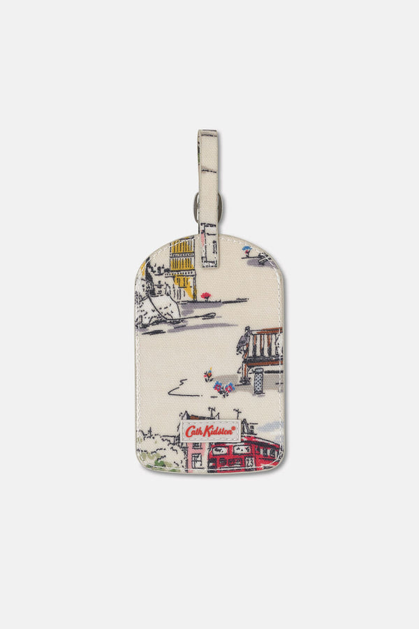 Cath Kidston Billie Goes to Town Luggage Tag - Ivory - Lucks of Louth