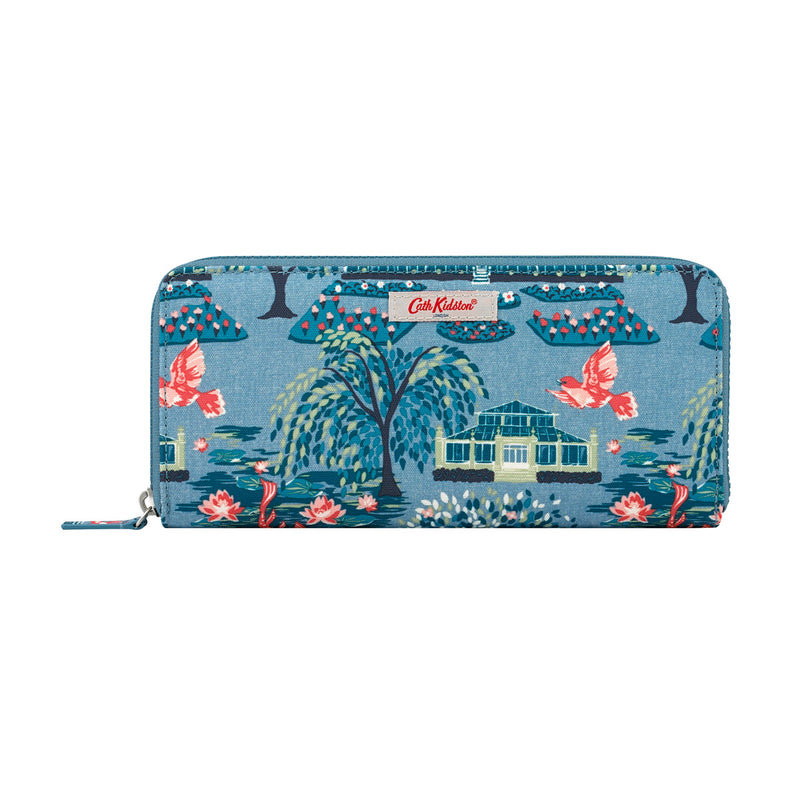 Cath Kidston Botanical Garden Travel Continental Wallet - Blue - Lucks of Louth