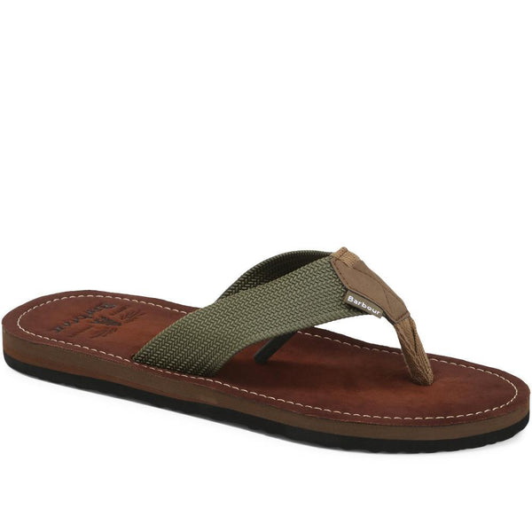 Barbour Toeman Sandal - Olive - Lucks of Louth