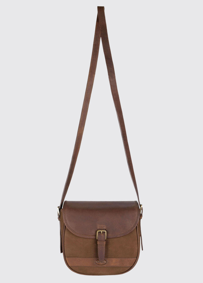 Dubarry Clara Leather Saddle Style Bag - Walnut - Lucks of Louth
