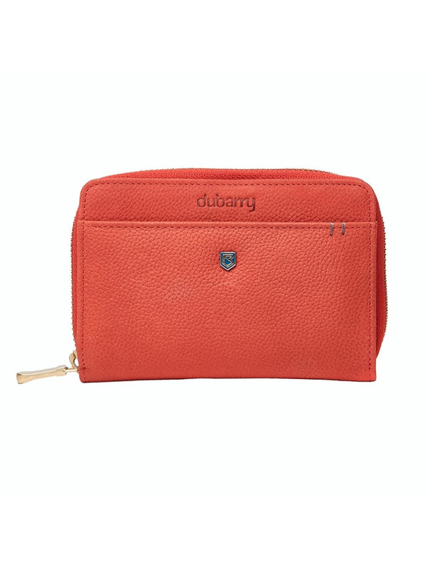 Dubarry Portrush Leather Wallet - Coral