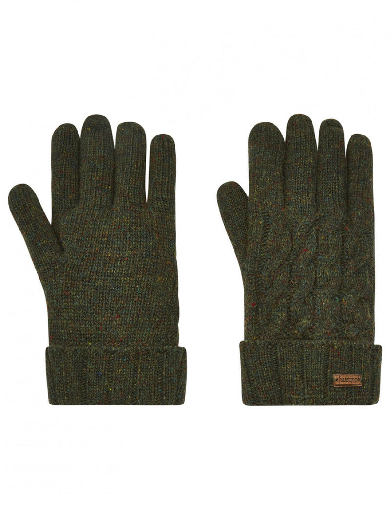 Dubarry Buckley Knitted Gloves - Olive - Lucks of Louth
