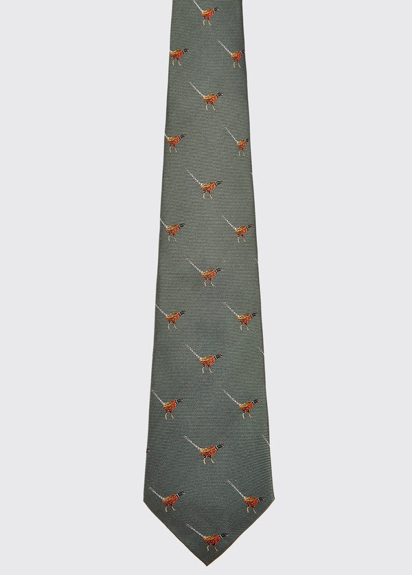 Dubarry Madden Silk Tie - Olive - Lucks of Louth
