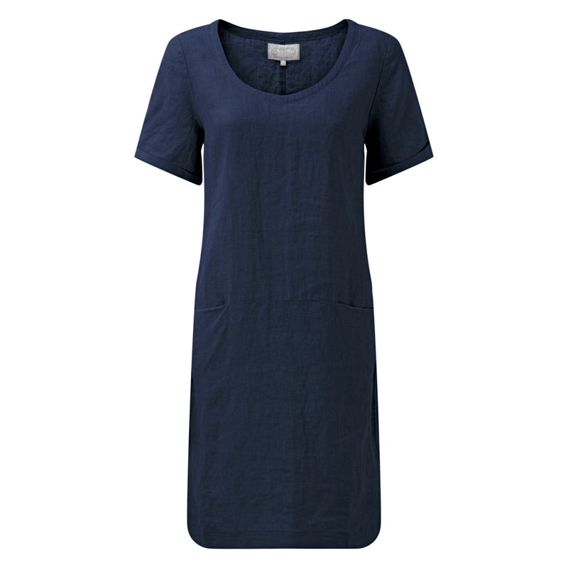 Schoffel Athena Linen Dress - Navy - Lucks of Louth