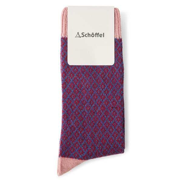 Schoffel Braemar Sock - Pink - Lucks of Louth