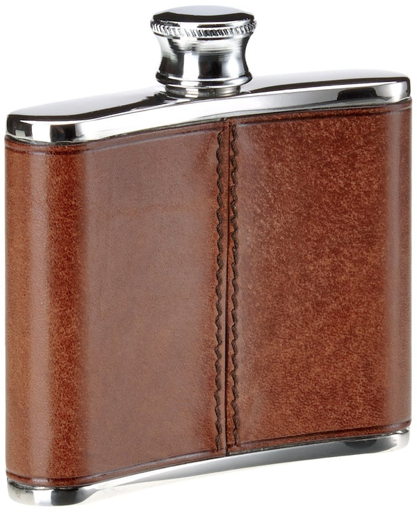 The Bridge 4oz Hip Flask - Brown
