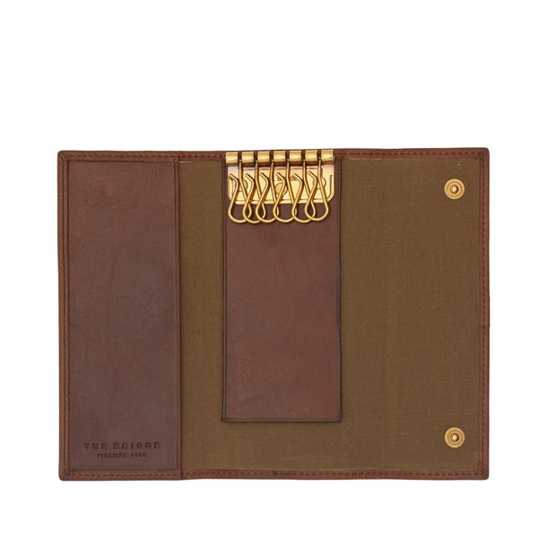 The Bridge 01.8026.01 Uomo Key Case - Brown - Lucks of Louth